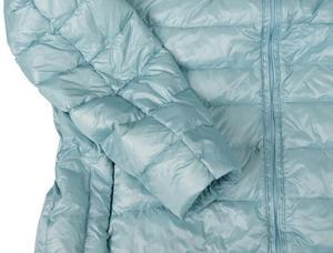 Image 5 - 겨울 여성 울트라 라이트 다운 재킷 % 95 화이트 오리 후드 자켓 긴 소매 따뜻한 코트 파카 여성 솔리드 휴대용 아웃웨어