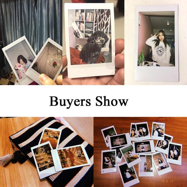 60 feuilles Original Fujifilm Fuji Instax Mini Film blanc feuille pour Polariod mini7 7s 8 10 20 25 50s 50i SP1 dw sp-1, lomo instant