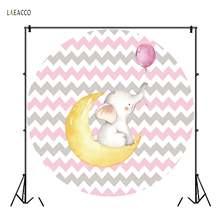 Laeacco милый маленький слон Луна воздушный шар фон для фотосъемки