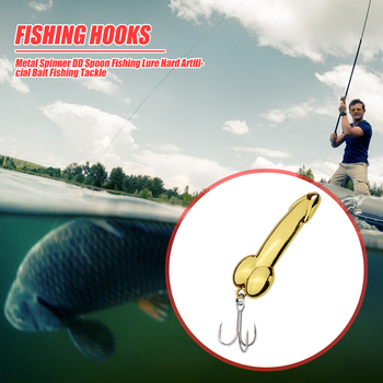 Metal Spinner Bass Pike Lure Portable Hard Fishing DD Spoon Outdoor Carrying Fishing Lure Zinc Alloy Hard Artificial Bait image