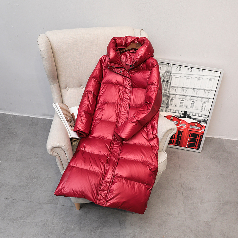 Winter Female Jacket Women Clothes 2019 Korean Long Women's Down Jacket Warm Duck Down Coat+hooded Outerwear Hiver LW903