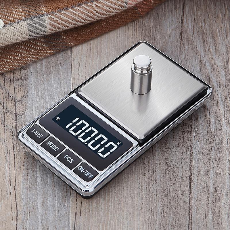 Цифровые карманные весы точные ювелирные весы грамм вес для кухонных ювелирных изделий баланс веса-5
