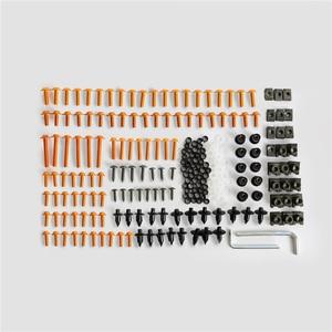 Image 4 - براغي انسيابية للزجاج الأمامي للدراجات النارية ، طقم براغي زنبركي لكاواساكي ، سوزوكي ، هوندا وياماها ، 223 قطعة