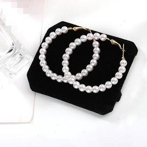 Hot Korean Fashion Trend New Earrings Sina Temperament Wild Pearls Exaggerated Big Circle Women Wholesale Earrings Sales(China)