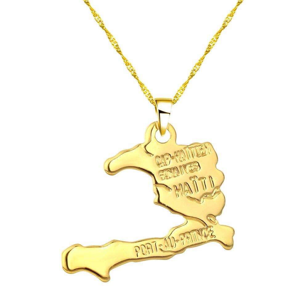 CHENHXUN CHENGXUN кулон Карта Африки ожерелье подарок золотой цвет длинная цепочка торговля Африканская Карта для мужчин и женщин модный подарок для ювелирных изделий - Окраска металла: 06