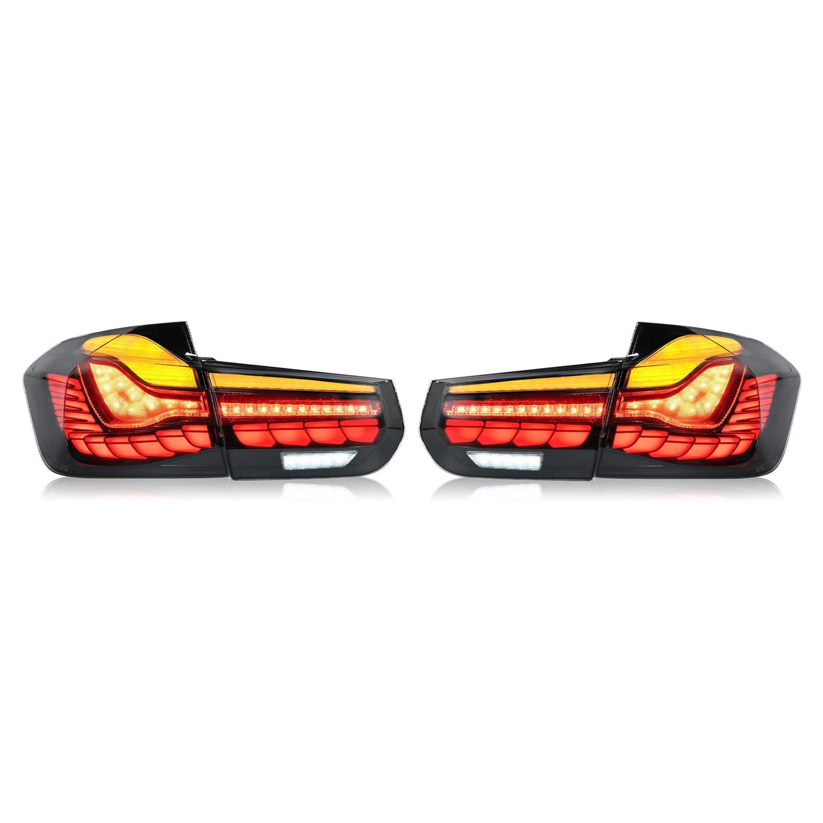 Lampe Für M4 GTS Design Geraucht Dynamische Full LED Rückleuchten mit Sequential Blinker Fit für BMW 3 Serie f30 F80 M3 2012-2019
