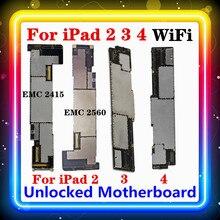 สำหรับIPad 2 3 4เมนบอร์ดWIFIรุ่นA1395,A1416,a1458ฟรีClean Originalแทนที่บอร์ดหลัก16GB 32GB 64GB IOSติดตั้ง