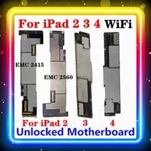 Per IPad 2 3 4 scheda madre WIFI versione A1395,A1416,A1458 Free Clean originale sostituito scheda principale 16GB 32GB 64GB IOS installato