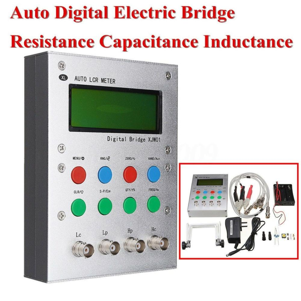 XJW01 Digital Bridge 0.3% L/CR Tester Resistance, Inductance, Capacitance, ESR Meter, Finished Product. With Metal Case