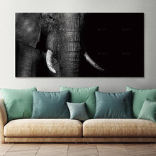 Poster Canvas art Pictures Wall Animal cat Art Painting canvas wall elephant cuadros decoracion
