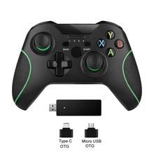 2.4G kablosuz denetleyici Xbox One konsolu için PC için Android joypad akıllı telefon Gamepad Joystick