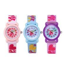 TurnFinger Горячая Распродажа Дети% 27s Кварц Часы 3D Симпатичные Любовь Узор Водонепроницаемый Экологический Защита Нетоксичный Материал Мода