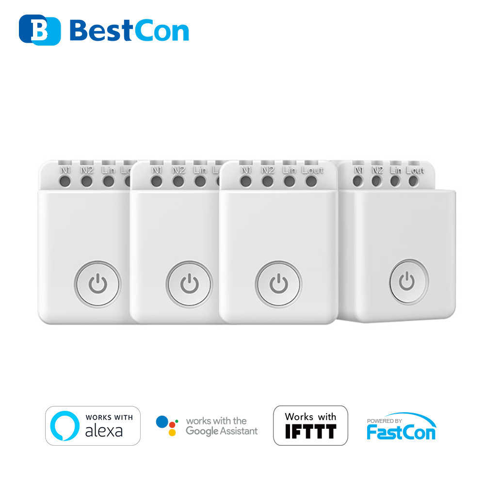Broadlink Bestcon MCB1 Smart WIFI Switch Waktu Nirkabel Mini Remote Controller Smart Home DIY Modul Alexa Google Kontrol Suara