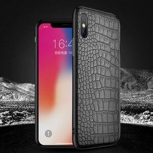 Weloan dotyczy Apple XR krokodyl futerał na telefon komórkowy iphonexmax skóra TPU + PC dwa w jednym groove shell