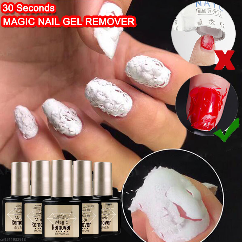 LULAA Nail Gel/Polish Remover Magic Remover Healthy Fast Within 1-2 MINS Gel Nail Polish UV Esmaltes Permanentes Base Top Coat