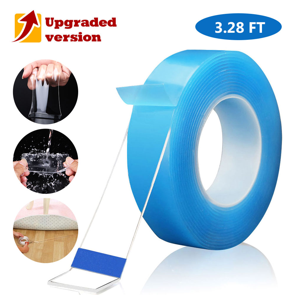 Multifunction Removable Washable Double Sided Adhesive Strips Reusable Nano Tape Seamless Traceless Sticky Holder Paste Photos
