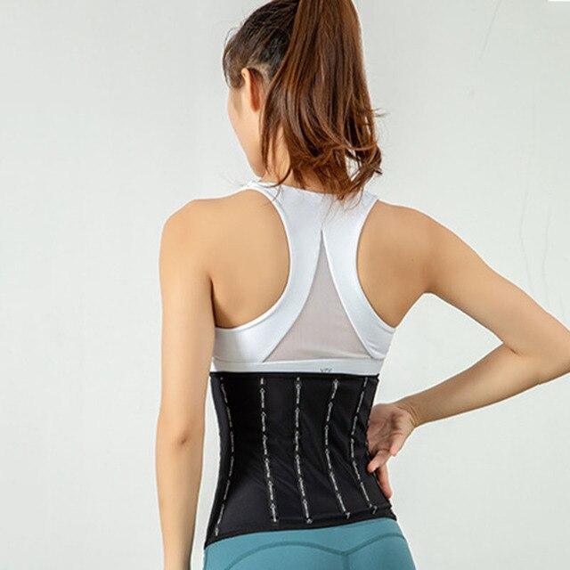 Women Waist Trainer Slimming Belt Corsets Weight Loss Running Fitness Sweat Trimmer Back Support Band Underwear Body Shaper 2