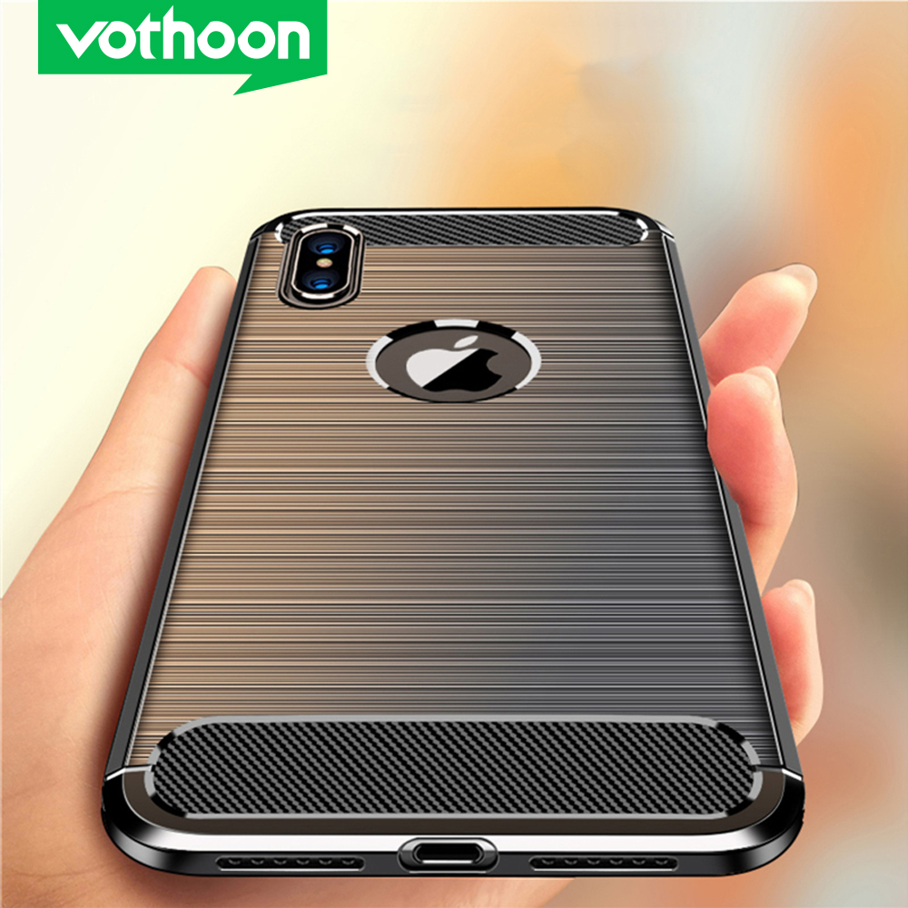 Vothoon Fiber Protective Case For iphone 12 Pro Max 12 Mini 11 Pro Xs Max Xr 6s 7 8 Plus Silicon Shockproof Case Cover