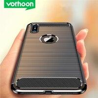 Custodia protettiva in fibra Vothoon per iphone 12 Pro Max 12 Mini 11 Pro Xs Max Xr 6s 7 8 Plus custodia protettiva in silicone antiurto