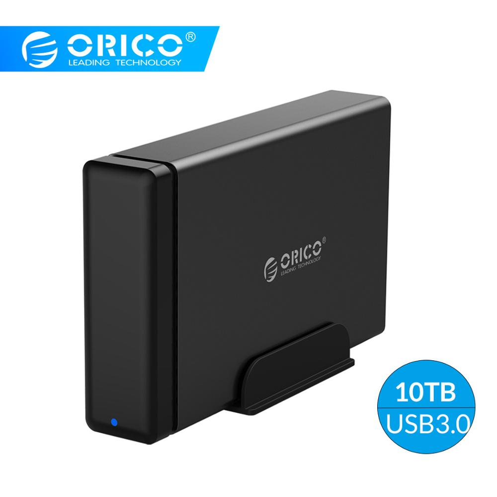 ORICO 3.5 Inch Hard Drive Enclosure USB3.0 To SATA3.0 HDD Docking Station MAX 10TB Capacity HDD Case Support UASP 12V2A Power