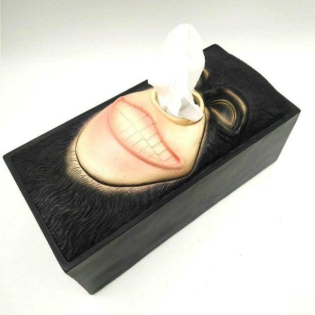 Résine porte-papier boîte à mouchoirs conteneur Shakespeare gorille pierre homme plateaux ornements artisanat serviette distributeur bureau décor à la maison