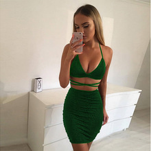 Nightclub Sexy Sling Ladies Dresses Hip Dress Solid Color Step Women Summer Bag 2019