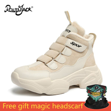 Shoes Winter Warm Platform Woman Snow Boots Plush Non Slip Female Casual Sneakers Snowboots White Fur Booties