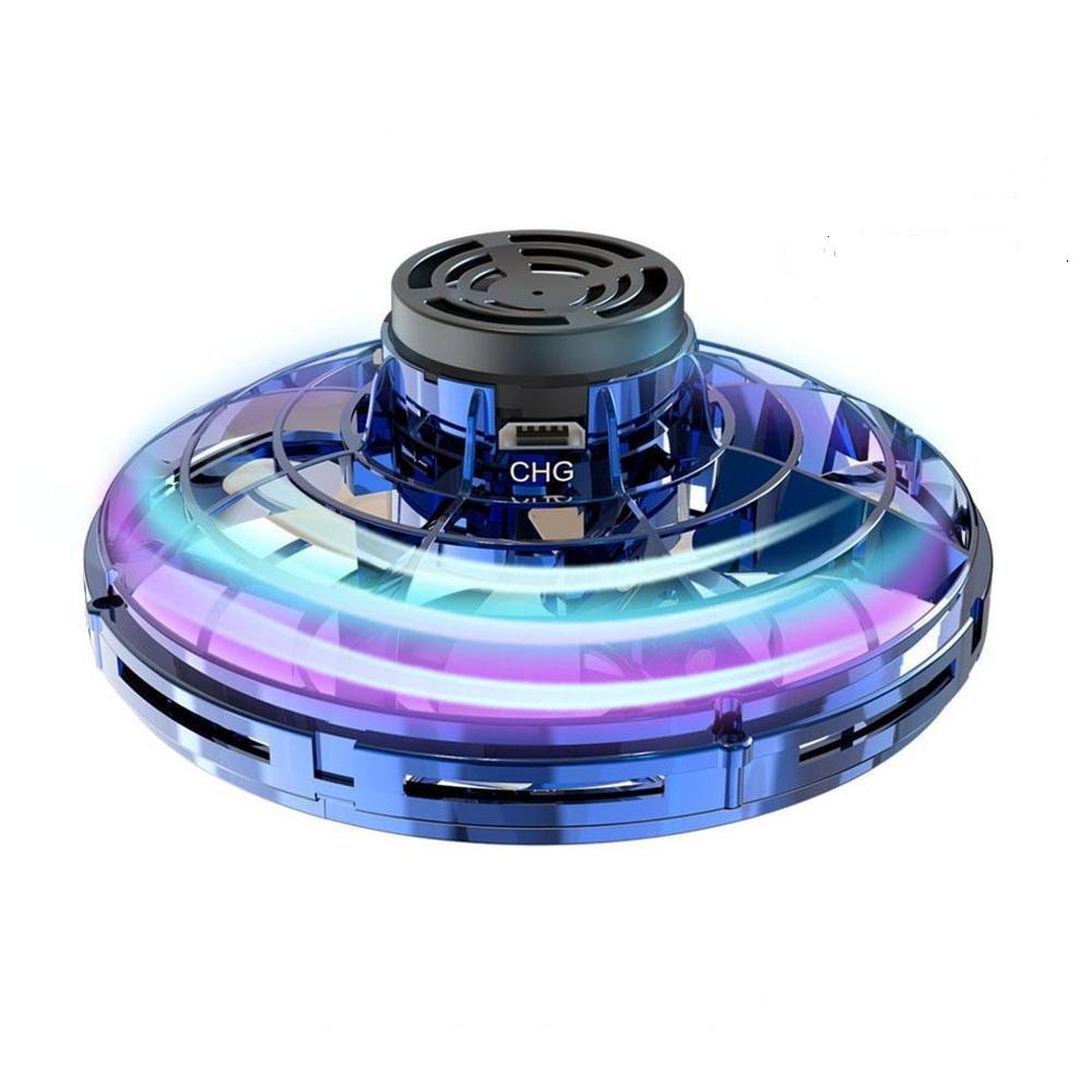 Flynova Athletic Antistress Hand Mini Fly Toy Gyro Rotator Drone Outdoor Gaming UFO Led Fidget Finger Spinner Child Gift