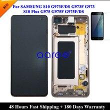 Süper AMOMLED samsung LCD S10 LCD G9730 samsung LCD S10 G9730 LCD Ekran dokunmatik sayısallaştırıcı tertibatı