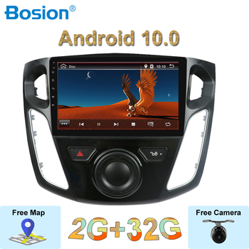 9'' Car Multimedia Video Player GPS Navigation 2G RAM Android 10.0 Autoradio For Ford For Focus 3 2012-2015 Head Unit GPS WIFI image
