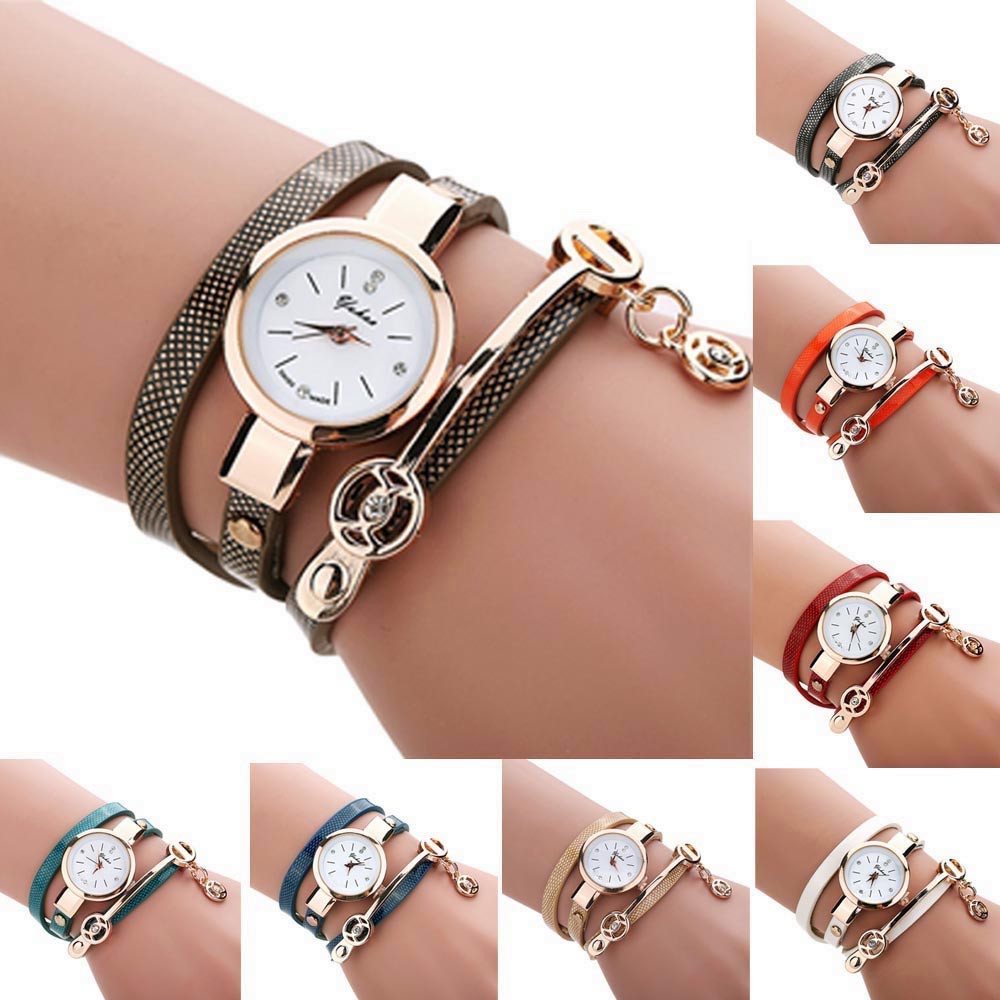 Quartz Watches Women Watches часы Accessories Luxury Fashion Casual Leather Strap Wrist Watches Gifts Wholesale Free Ship