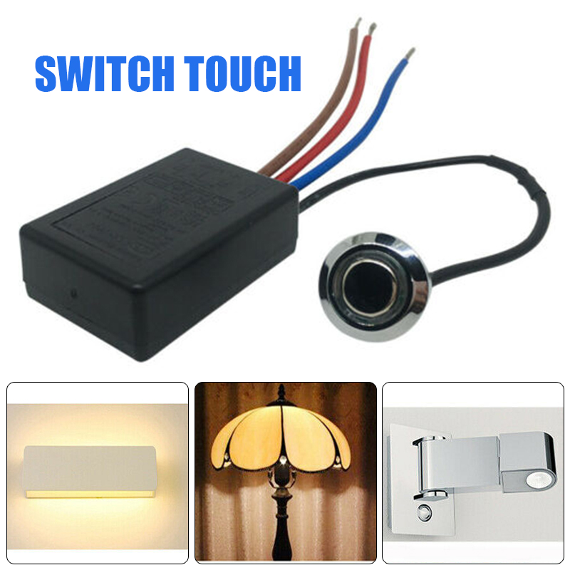 1pc AC 220-240V Light Lamp Touch Sensor Switch Desk Light Parts Touch Control Sensor Dimmer for Bulbs Lamp Switch LD-600S