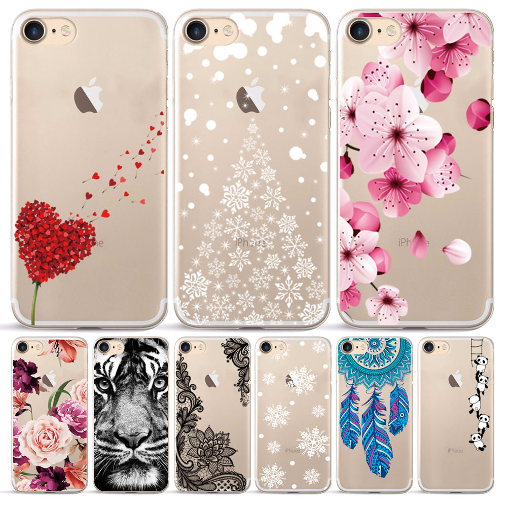 Case for iphone 7 soft clear tpu back cover for 5 5s se 6 splus x xs max xr silicone phone case for iphone 7 8 plus 11 pro max
