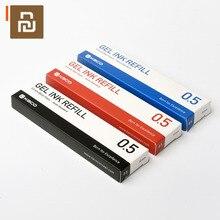 Kaco refil de tinta gel padrão universal, azul escuro, preto azul, vermelho, 0.5mm para escritório de estudantes 10 pçs/set