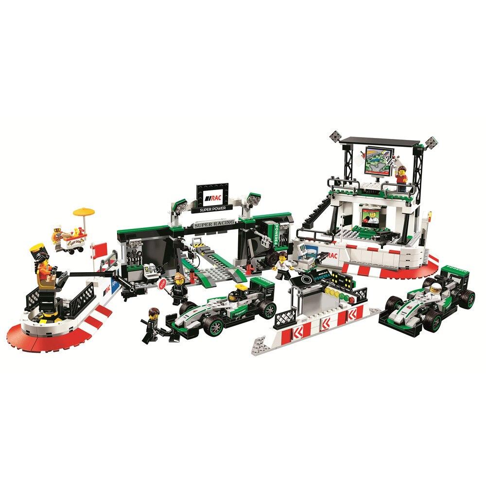 SPEED CHAMPIONS Mercedes AMG Petronas Formula One Team Building Blocks Kits Bricks Classic Model Kids Toys For Children Gift