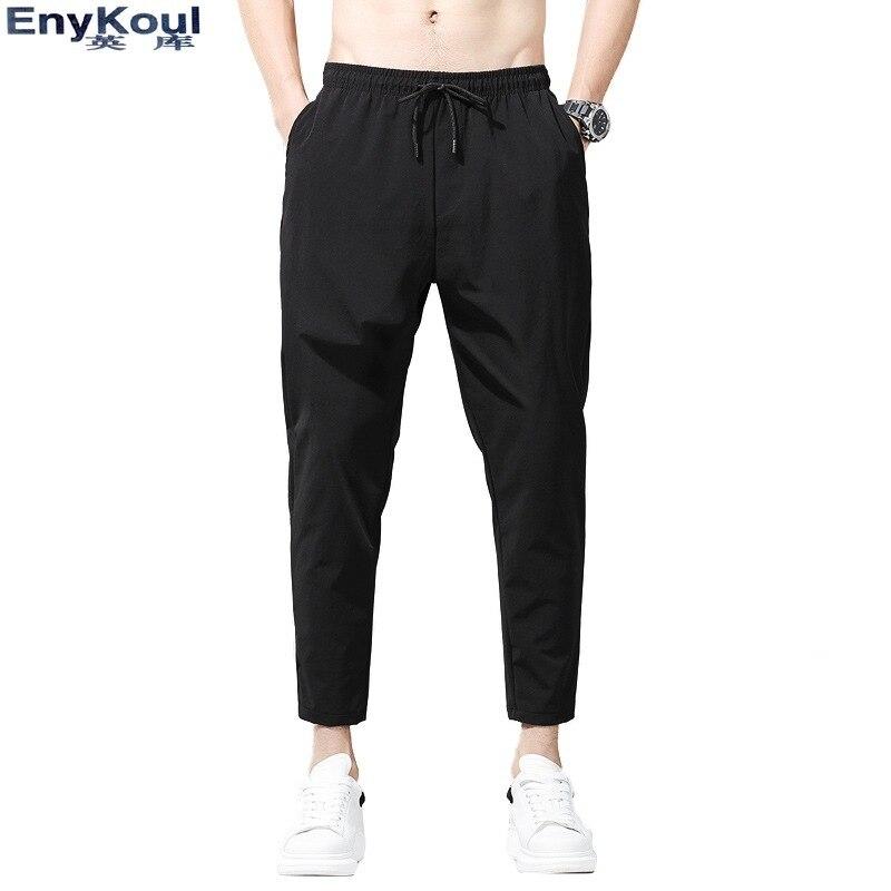 2019 Autumn Casual Versatile Capri Pants Men's 9 Points Quick-Dry Versatile Trousers Pendant Sense Small Suit Pants With Suit Le