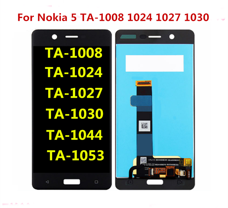 100%Original For Nokia 5 <font><b>TA</b></font>-1008 1024 1027 1030 1044 <font><b>1053</b></font> LCD Display with Touch Screen Digitizer Assembly Replacement Parts image