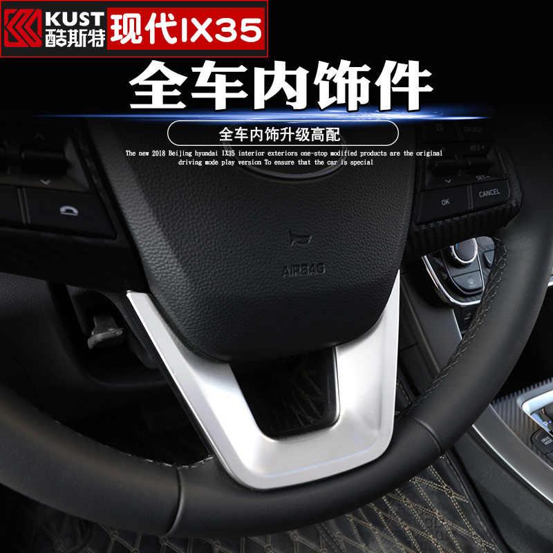 คุณภาพสูง ABS คาร์บอนไฟเบอร์ภายใน Trim เลื่อม, แผงหน้าปัด Trim สำหรับ Hyundai IX35 2018 2019 ครอบคลุมรถยนต์-จัดแต่งทรงผม