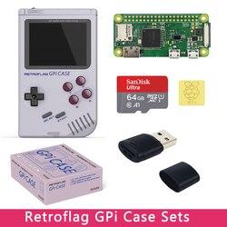 Оригинальный чехол Retroflag GPi с опцией 32 Гб 64 Гб sd-карта | ридер | радиатор совместим с Raspberry Pi Zero W с картриджем