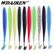 10pcs/Lot Fishing Worms Soft Lure Jig Wobblers 9cm 3g Shrimp Fishy Smell Silicone Artificial Bait Swimbaits Bass Pesca Tackle