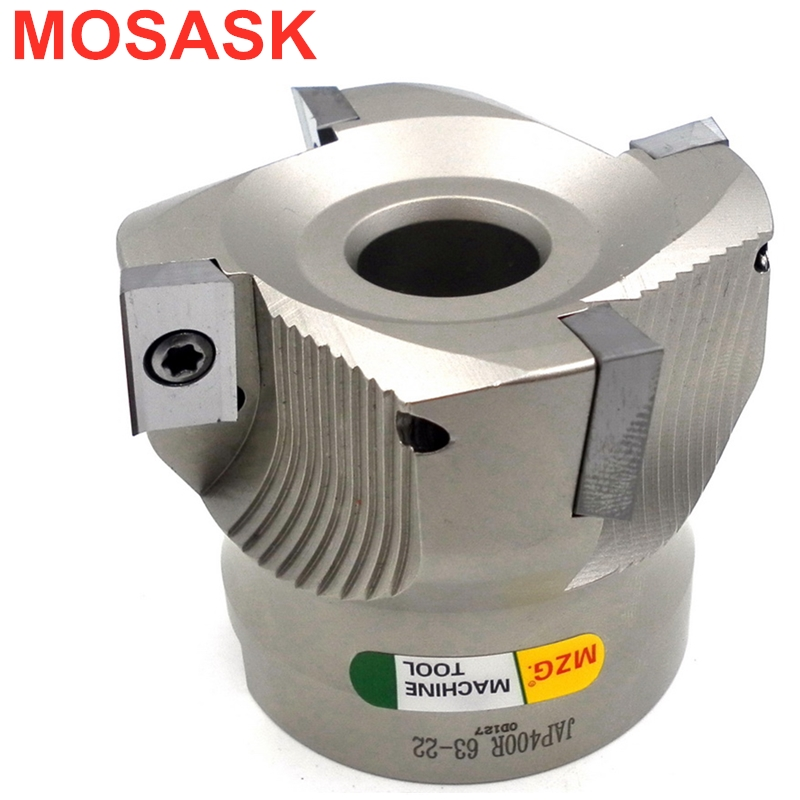 MOSASK BAP400R 40-22-3T CNC Cutting Steel Precision Right-Angle Clamped End Mill Face Milling Cutter