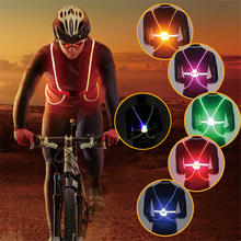 High Reflective Vest LED Flash Night Running Cycling Driving Riding Safety Vest Outdoor Activities Light Up Security Work Wear