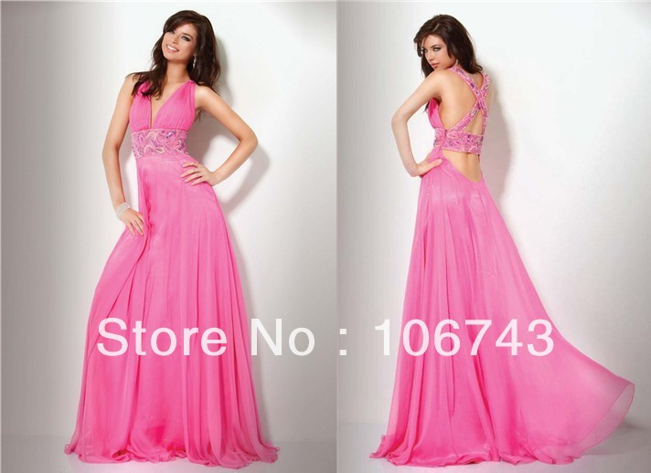 Free Shipping 2018 Best Seller New Style Sexy Bride Deep V-neck Custom Size Embroidery Party Prom Gown Bridesmaid Dresses