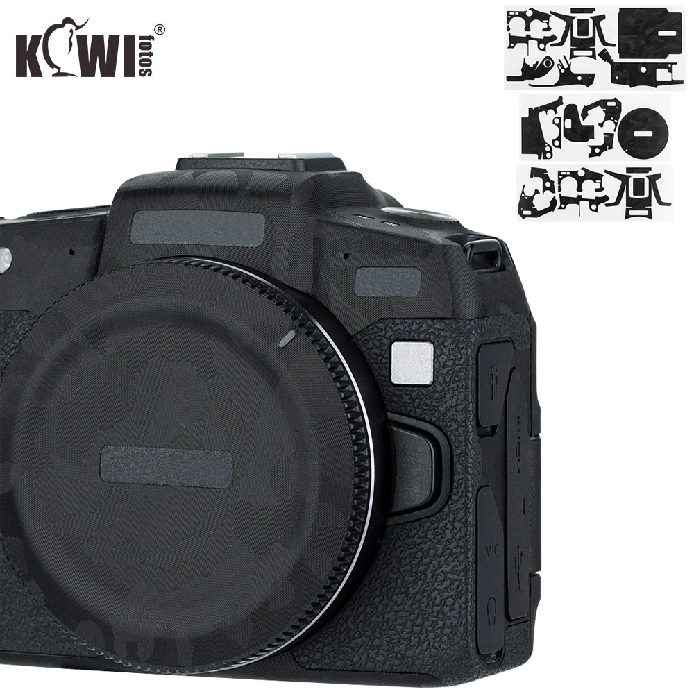 Kiwifotos Anti-Scratch Camera Body Cover Protector Film For Canon EOS RP EOSRP Camera Skin Shadow Black Camouflage 3M Sticker