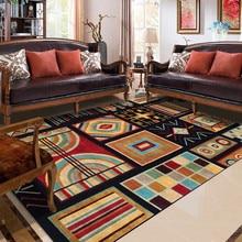 Geometric Rug Mediterranean Ethnic-Style Multi-Color Panel Carpet Living Room Bedroom Bed Blanket Kitchen Bathroom Floor Mat