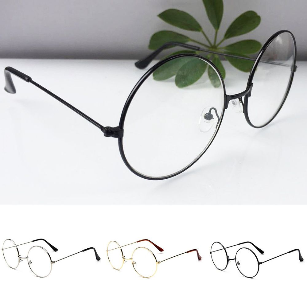 Vintage Round Clear Lens Glasses Frame Retro Flat Myopia Optical Simple Classic Metal Frame Eye Glasses New Arrival