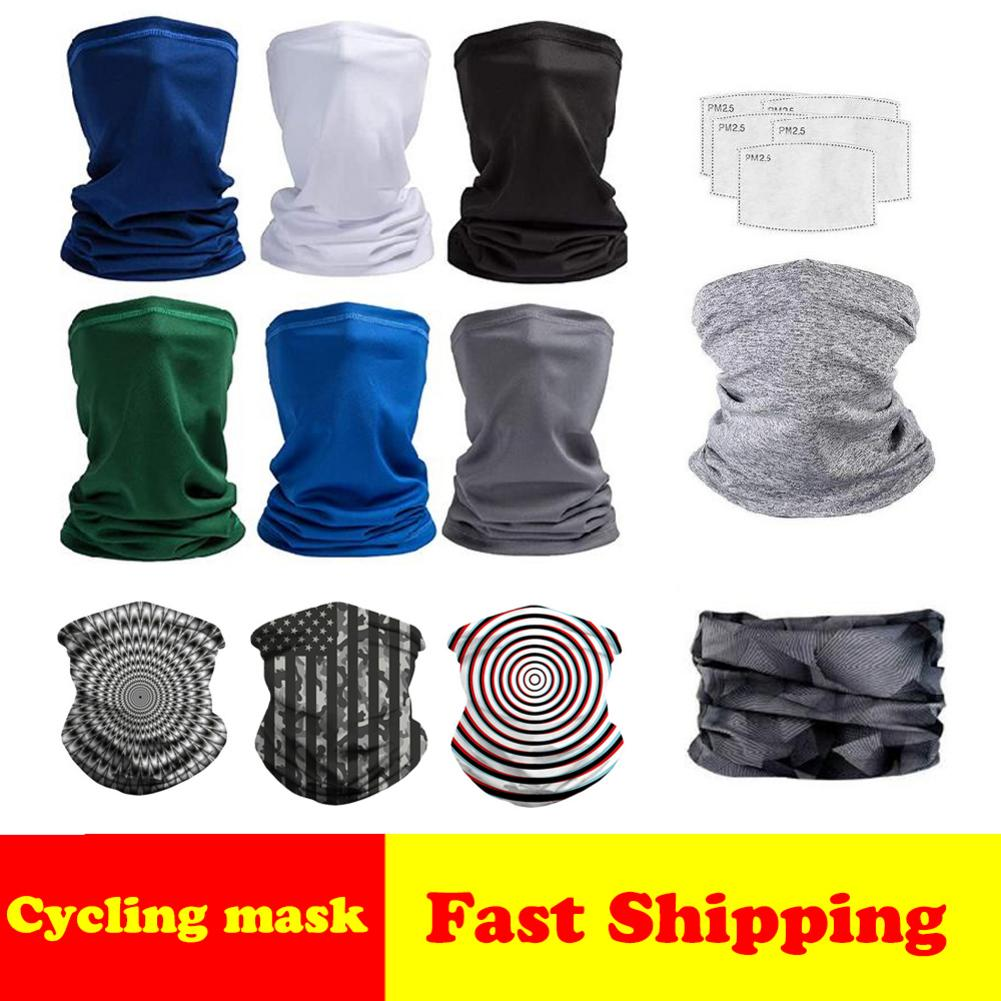 Dust Mask Scarf Magic Face Cover For Outdoor Sports Windproof Cycling Headband Neck Bandanas Face Masks PM2.5 Respirator Filter