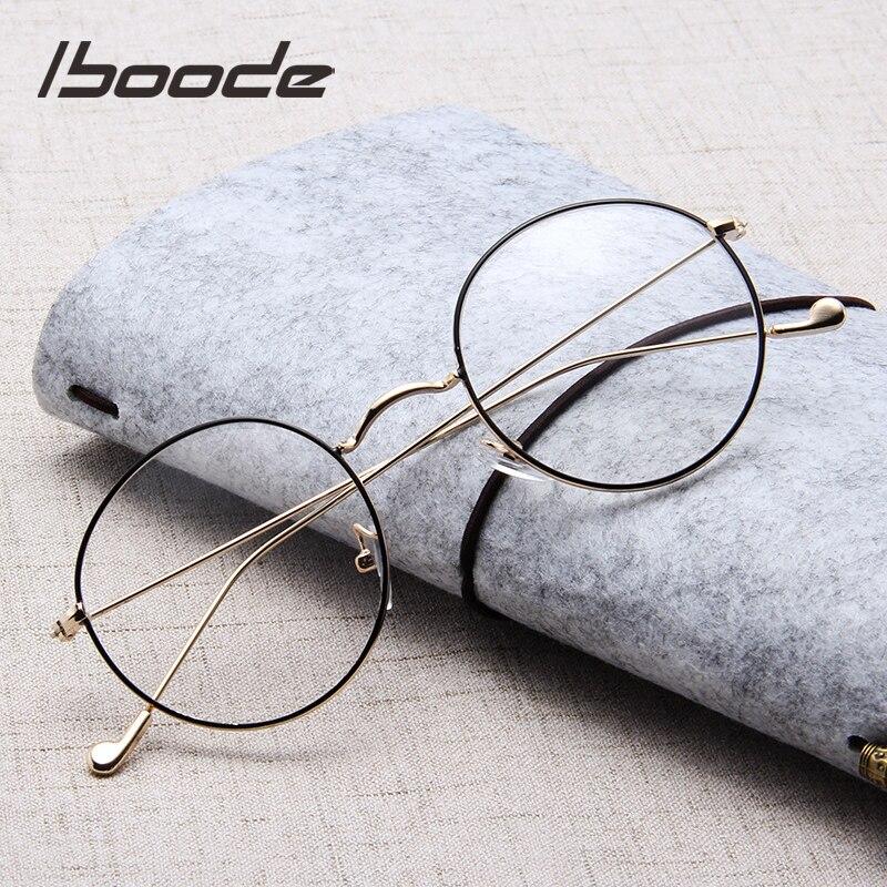 Iboode 2019 New Reading Glasses Unisex Retro Round Presbyopia Hyperopia Eyeglasses Men Women Black Gold Silver Metal Frame