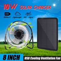 New Solar Cells 10W USB Folding Foldable Solar Panel Charger Mobile Power Bank for Phone Battery With Cooling Ventilation Fan