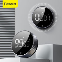 Baseus-Temporizador magnético de Cocina Digital, reloj despertador Manual con cuenta atrás, mecánico, cronómetro para ducha y estudio